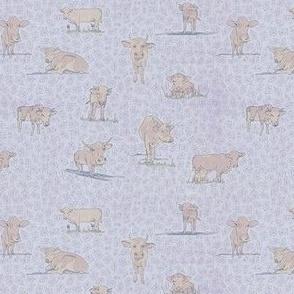 Modern Farmhouse Cows in Pink