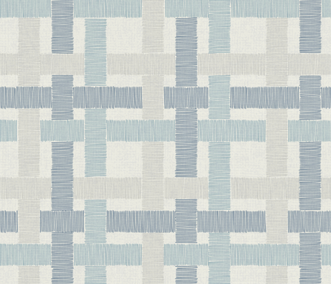 Country Linen Checks Blues fabric by docious_designs_by_patricia_braune on Spoonflower - custom fabric