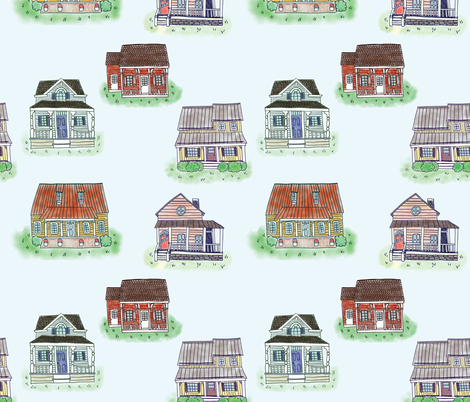 Happy Homes fabric by manateedesignsco on Spoonflower - custom fabric