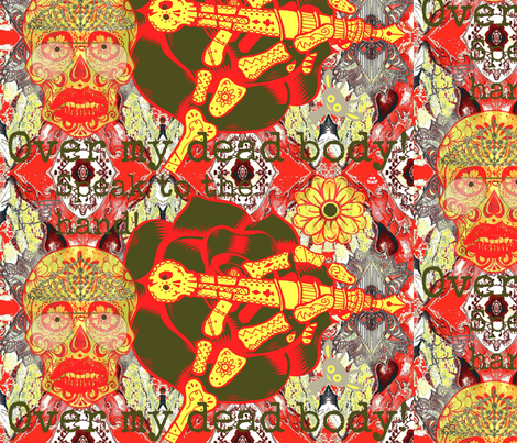 Speak to the hand! LARGE fabric by theitsiegypsy on Spoonflower - custom fabric