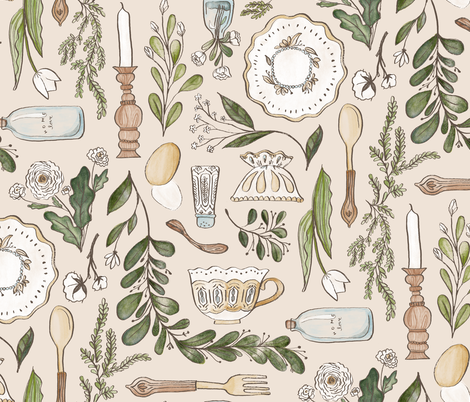Farmhouse Dining fabric by thestorysmith on Spoonflower - custom fabric