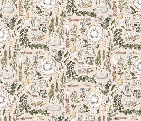 Farmhouse Dining fabric by thestorysmith on Spoonflower - custom fabric