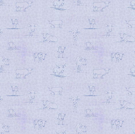 Modern Farmhouse Cows fabric by toocoolunicorn on Spoonflower - custom fabric