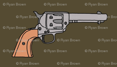 Revolvers on Dark Olive // Small