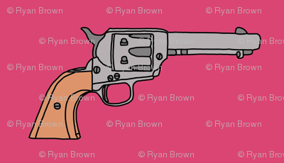 Revolvers on Hot Pink // Large