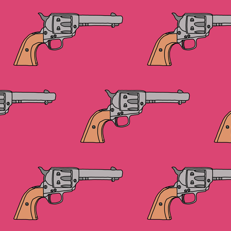 Revolvers on Hot Pink // Large fabric by thinlinetextiles on Spoonflower - custom fabric