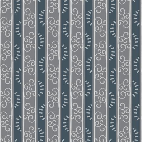 Modern Farmhouse Vertical Dark fabric by hollybender on Spoonflower - custom fabric
