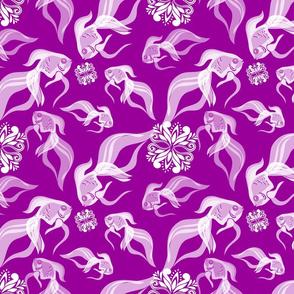 Goldfish in Purple