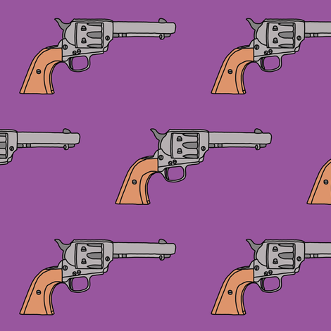 Revolvers on Orchid // Large fabric by thinlinetextiles on Spoonflower - custom fabric