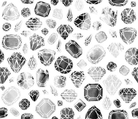 diamonds nior fabric by booboo_collective on Spoonflower - custom fabric