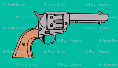 Revolvers on Turquoise // Small
