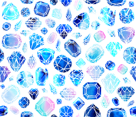 Rough diamond fabric by booboo_collective on Spoonflower - custom fabric