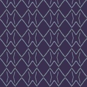 ikat diamond_violet