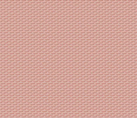 Featherlike (Rust on Pink) fabric by katelancaster on Spoonflower - custom fabric