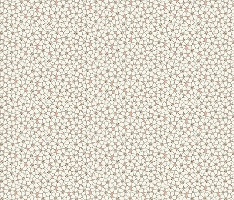 Ditsy Meadow Flowers on Dusty Pink (Large) fabric by katelancaster on Spoonflower - custom fabric