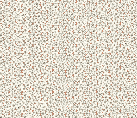 Ditsy Meadow Flowers on Tan (Large) fabric by katelancaster on Spoonflower - custom fabric