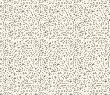 Ditsy Meadow Flowers on White (Large) fabric by katelancaster on Spoonflower - custom fabric