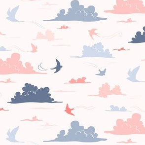 Clouds and swallows
