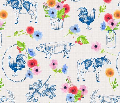 Meadowsweet Farm fabric by katebillingsley on Spoonflower - custom fabric