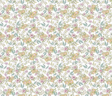 ML_SpringTea_Pattern (2) fabric by mizzlisa on Spoonflower - custom fabric