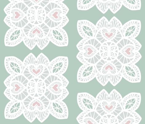 Modern Farmhouse lace fabric by ae_fresia on Spoonflower - custom fabric