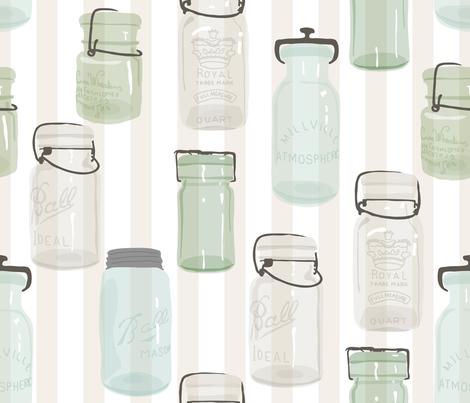 Canning Jars  fabric by fernlesliestudio on Spoonflower - custom fabric