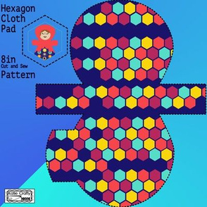 Hexagon cloth pad 8in