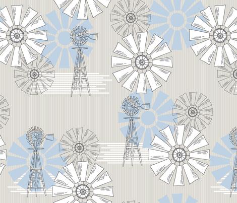Farmhouse Windmills fabric by nixels on Spoonflower - custom fabric