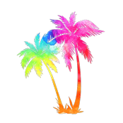 Rainbow Palm Trees