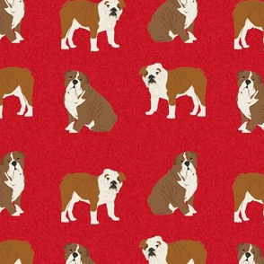 english bulldog pet quilt a  fabric quilt dog breed collection coordinate