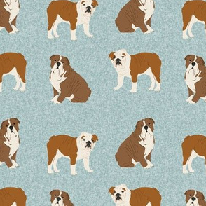 english bulldog pet quilt b  fabric quilt dog breed collection coordinate