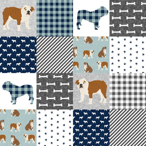 english bulldog pet quilt b fabric quilt dog breed collection cheater
