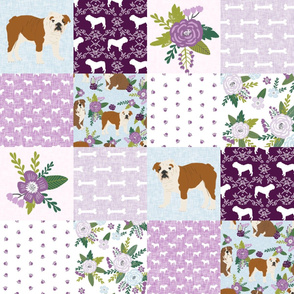english bulldog pet quilt c fabric quilt dog breed collection cheater
