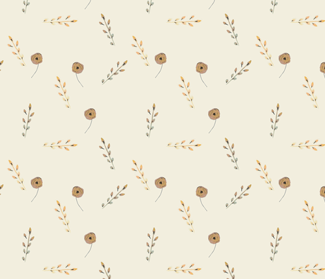 country poppy fabric by holly_perona_ on Spoonflower - custom fabric