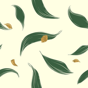 modern tulip leafs with gold petals