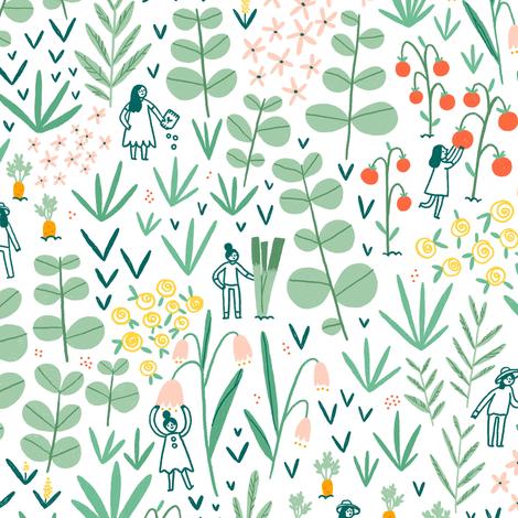 Gardening team fabric by stolenpencil on Spoonflower - custom fabric
