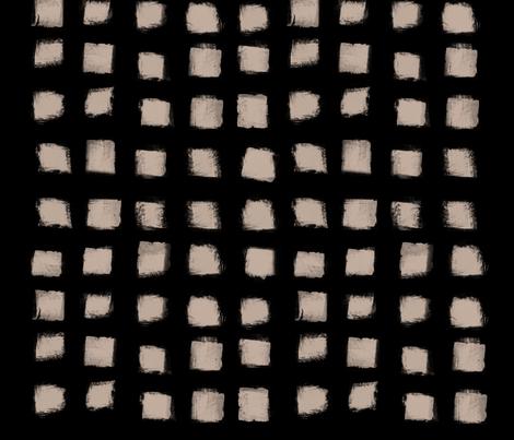 Polka Strokes - Nude on Black fabric by form_creative on Spoonflower - custom fabric