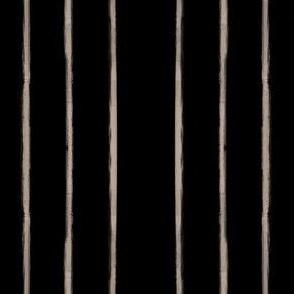 Skinny Strokes Gapped Vertical Nude on Black