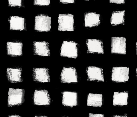 Polka Strokes - Off White on Black fabric by form_creative on Spoonflower - custom fabric