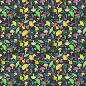 Mushroom pattern brown bg with some layers