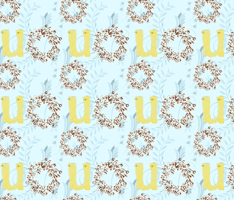 These Boots are Made for Working in Style fabric by kathleenbruceillustration on Spoonflower - custom fabric