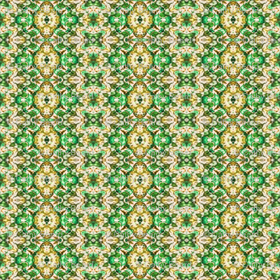 Paisley in Green & Gold