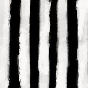 Long Strokes Vertical Off White on Black