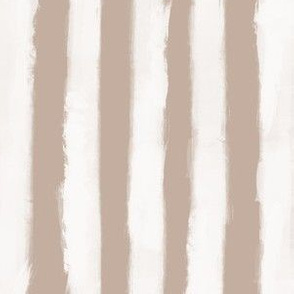 Long Strokes Vertical Off White on Nude