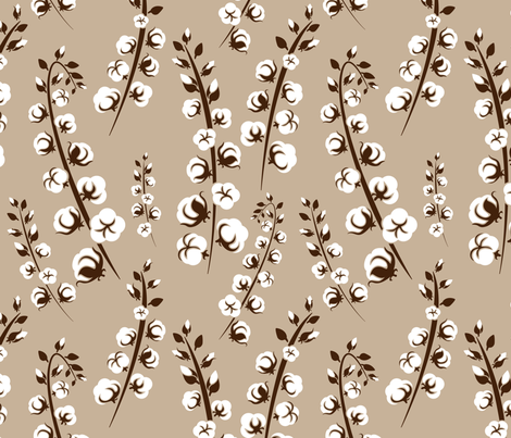 Farmhouse Cotton Natural fabric by bluestarmarie on Spoonflower - custom fabric