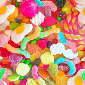 candy sweets colorful rainbow gummi jellys gummy gelatin worms marshmallows gumdrops sour worms omelette lollipop fruits raspberry grapes chocolate raspberries neon green blue pink yellow orange