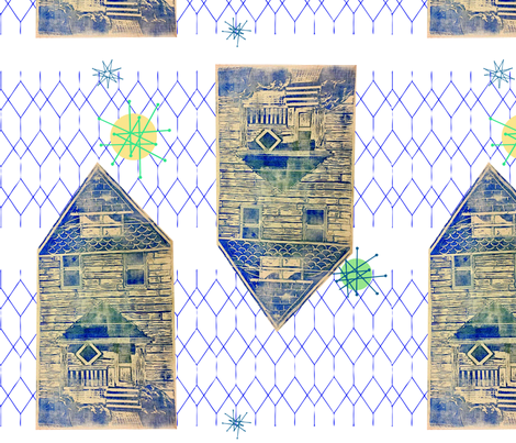 MOD Farmhouse Blockprint fabric by maria_makes_flowers on Spoonflower - custom fabric