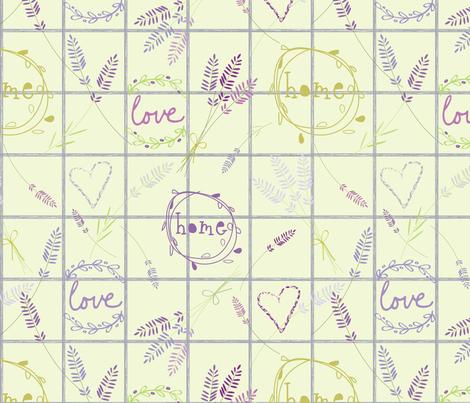 Lavender Love-01 fabric by orangepoppydesigns on Spoonflower - custom fabric