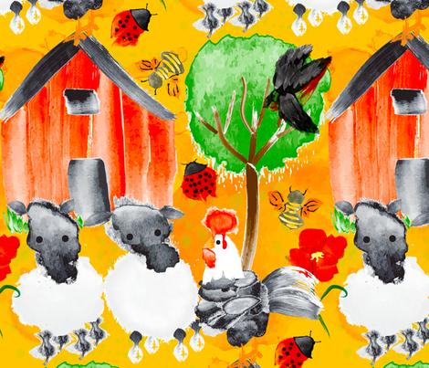 Spring Chicken Chronicles fabric by orangefancy on Spoonflower - custom fabric