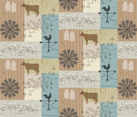 Farmhouse Style fabric by malibu_creative on Spoonflower - custom fabric